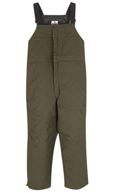 Land Management Unisex Earth Green Insulated Bib Overall - Click for Large View