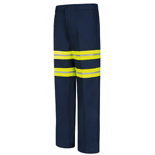 Red Kap Enhanced Visibility Wrinkle-Resistant Cotton Pant - Click for Large View