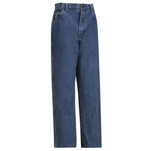 Flame Resistant Stone Washed Loose Fit Denim Jean - Click for Large View