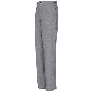 Spun Poly Checked Cook Pant - Click for Large View