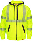Closeout - Full Zip ANSI Hi Visibility Work Hoodie - Class 3 Level 2