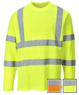 Portwest Cotton Comfort Hi Vis Long Sleeve T-Shirt - Type R, Class 3