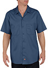 Dickies Industrial Short Sleeve Cotton Work Shirt