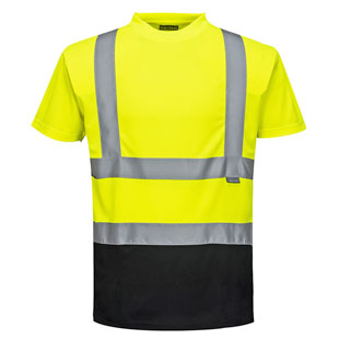 Portwest Two-Tone Hi Vis T-Shirt - Type R, Class 2 - Click for Large View