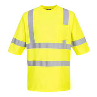 Portwest Hiv Vis Mesh Panel T-Shirt - Type R, Class 3 - Click for Large View