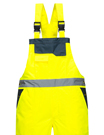 Portwest Lined Contrast Rain Bib And Brace Overall