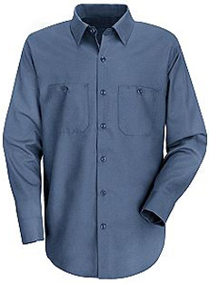 Red Kap Mens Basic LONG SLEEVE Cotton Shirts - Click for Large View
