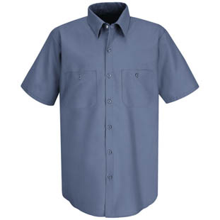 Red Kap Mens Basic Cotton SHORT SLEEVE Shirts - Click for Large View