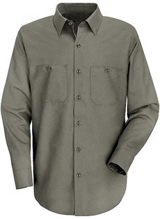 Red Kap Mens Wrinkle Resistant Cotton LONG SLEEVE Work Shirts - Click for Large View