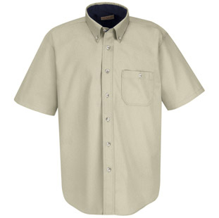 Unisex Heavy Weight Cotton Twill Short Sleeve Casual Shirt - Click for Large View