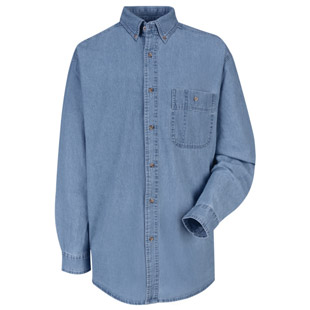 Wrangler Denim Long Sleeve Shirt - Click for Large View
