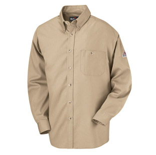 Flame Resistant Excel-FR Cotton Button Front Dress Uniform Shirt - Click for Large View