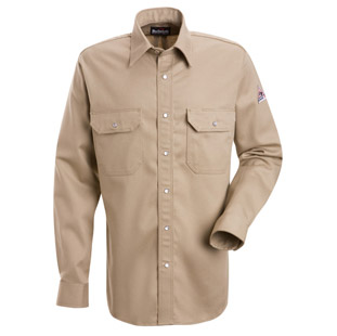 Flame Resistant Excel-FR Cotton Snap Front Deluxe Shirt - Click for Large View