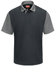 Men's Short Sleeve Performance Knit Color-Block Polo