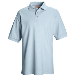 Unisex Pique Knit Polo Without Pockets - Click for Large View
