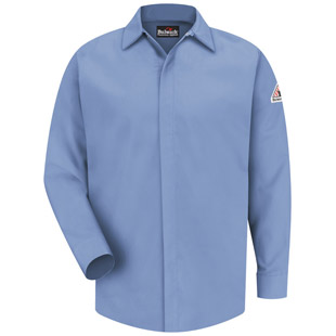 Flame Resistant CoolTouch 2 Concealed-Gripper Pocketless Shirt - Click for Large View