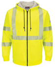 Bulwark Hi-Vis Zip-Front Hooded Fleece Sweatshirt