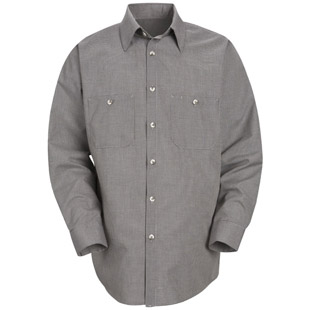 Red Kap Micro-Check LONG SLEEVE Work Shirts - Click for Large View