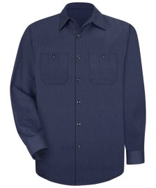 Men's Durastripe Long Sleeve Work Shirt