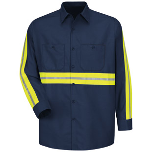 Enhanced Visibility Industrial Long Sleeve Shirt - Click for Large View