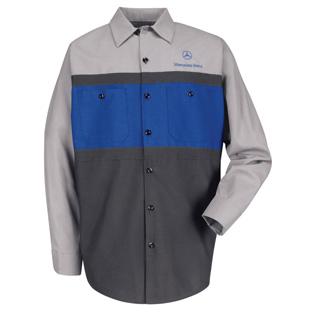 Mercedes Benz Long Sleeve Mechanic Shirts - Click for Large View