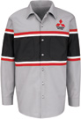 Mitsubishi Striped Mechanic Long Sleeve Shirt