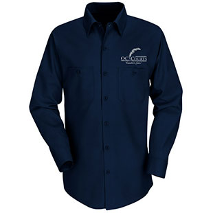 OC Court TouchTex Long Sleeve Work Shirt - Click for Large View