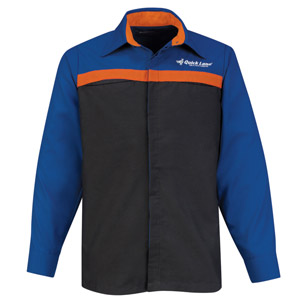 Ford Quick Lane Long Sleeve Technician Shirt - Click for Large View