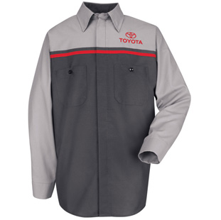 Toyota Long Sleeve Mechanic Shirts - Click for Large View
