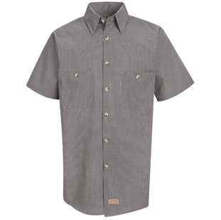 Red Kap Micro Check SHORT SLEEVE Work Shirts - Click for Large View