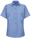 Women's Solid Color Short Sleeve Industrial Work Shirt