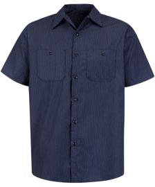 Men's Durastripe Short Sleeve Work Shirt