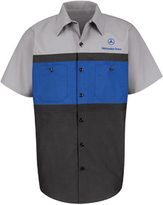 Mercedez Benz Short Sleeve Mechanic Shirts - Click for Large View