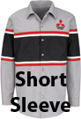Mitsubishi Striped Mechanic Short Sleeve Shirt