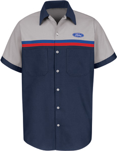 Ford Striped Technician Short Sleeve Shirt - Click for Large View