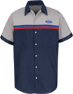 Ford Striped Short Sleeve Mechanic Shirts