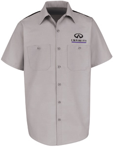 Infiniti Mechanic Short Sleeve Shirt - Click for Large View