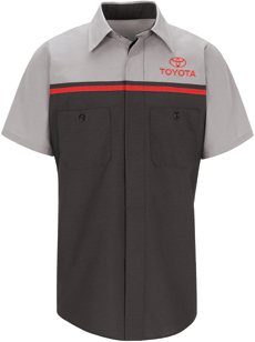Toyota Short Sleeve Mechanic Shirts - Click for Large View