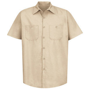 Red Kap Mens TouchTex II SHORT SLEEVE Work Shirts - Click for Large View