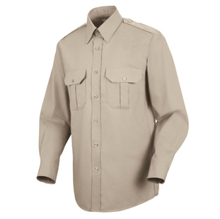 Sentinel Mens Basic Long Sleeve Security Shirts - Click for Large View