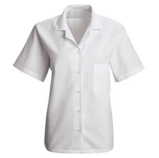 Red Kap Womens Short Sleeve Housekeeping Uniform Blouse - Click for Large View