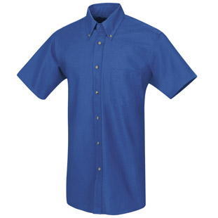 Red Kap Mens SHORT SLEEVE Button Down Poplin Shirts - Click for Large View
