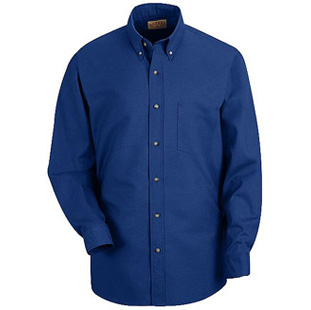 Red Kap Mens LONG SLEEVE Button Down Poplin Shirts - Click for Large View