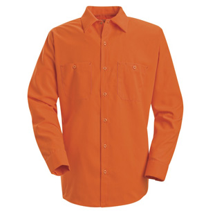Enhanced Visibility Orange Long Sleeve Shirt - Click for Large View