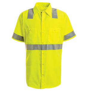 Hi Visibility Short Sleeve Shirt - Class 2 Level 2 - Click for Large View