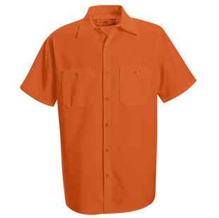 Enhanced Visibility Orange Short Sleeve Shirt - Click for Large View