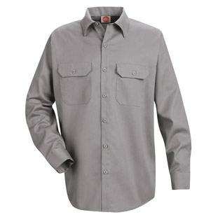 Red Kap Mens Utility LONG SLEEVE Work Shirts - Click for Large View