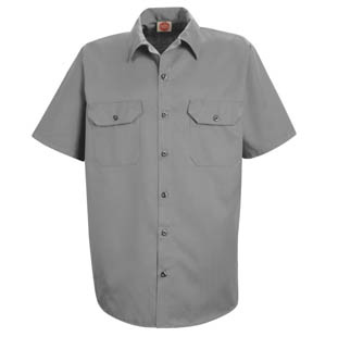 Red Kap Mens Utility SHORT SLEEVE Work Shirts - Click for Large View