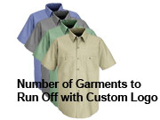 Custom Logo - STEP 2 - Add Logo To The Garment - Volume Discounts (Run Off Charge)
