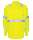 Men's Hi-Vis Ripstop Long Sleeve Work Shirt with MIMIX + OilBlok, Type R, Class 2